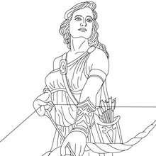 DIOSA ARTEMISA para colorear, diosa griega de la caza - Dibujos para Colorear y Pintar - Dibujos para colorear PERSONAJES - PERSONAJES HISTORICOS para colorear - PERSONAJES DE LA MITOLOGIA GRIEGA para colorear - Dibujos de las DIOSAS GRIEGAS para colorear