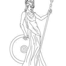 DIOSA ATENEA para pintar, diosa griega de la paz - Dibujos para Colorear y Pintar - Dibujos para colorear PERSONAJES - PERSONAJES HISTORICOS para colorear - PERSONAJES DE LA MITOLOGIA GRIEGA para colorear - Dibujos de las DIOSAS GRIEGAS para colorear