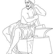 DIOS HEFESTO para pintar, dios griego del fuego y los metales - Dibujos para Colorear y Pintar - Dibujos para colorear PERSONAJES - PERSONAJES HISTORICOS para colorear - PERSONAJES DE LA MITOLOGIA GRIEGA para colorear - Dibujos de los DIOSES GRIEGOS par c