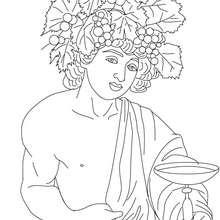 DIOS DIONISO para pintar, dios griego del vino - Dibujos para Colorear y Pintar - Dibujos para colorear PERSONAJES - PERSONAJES HISTORICOS para colorear - PERSONAJES DE LA MITOLOGIA GRIEGA para colorear - Dibujos de los DIOSES GRIEGOS par colorear