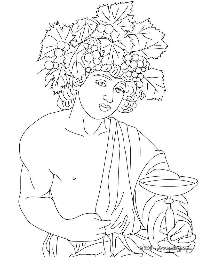 Dibujos para colorear dios dioniso , dios griego del vino - es ...