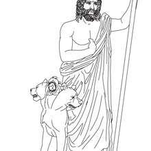 Dibujo para colorear : DIOS HADES , hermano de Zeus y dios griego del infierno