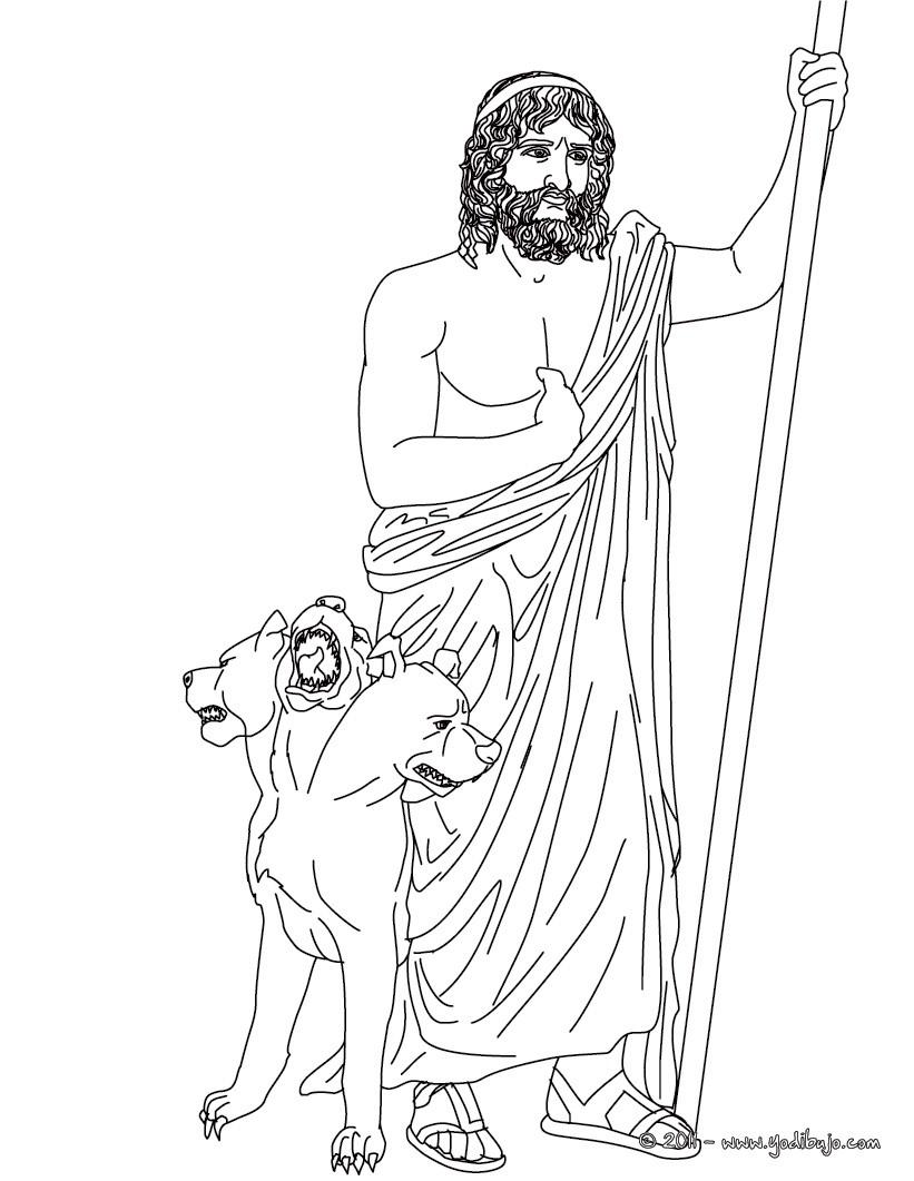 Dibujos para colorear dios hades , hermano de zeus y dios griego del ...