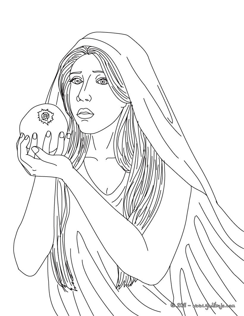 Dibujos para colorear diosa persefone reina del for En la mitologia griega la reina de las amazonas