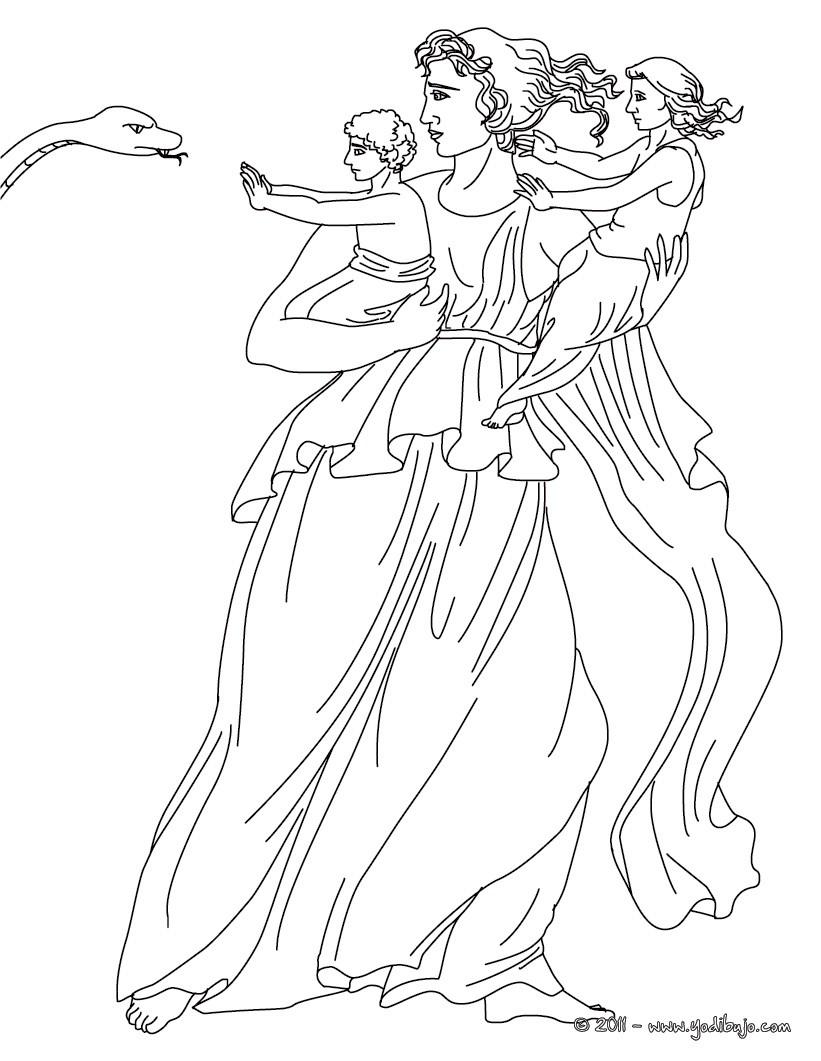 Dibujos para colorear diosa hera , diosa griega matrona - es ...