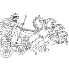 DIOS HELIOS para colorear, dios griego del sol - Dibujos para Colorear y Pintar - Dibujos para colorear PERSONAJES - PERSONAJES HISTORICOS para colorear - PERSONAJES DE LA MITOLOGIA GRIEGA para colorear - Dibujos de los DIOSES GRIEGOS par colorear