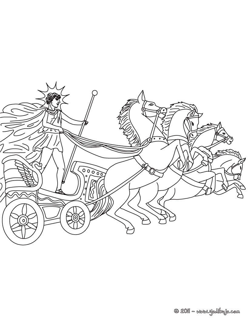 Dibujos para colorear dios helios , dios griego del sol - es ...