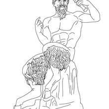 DIOS PAN para colorear, dios griego de la naturaleza salvaje - Dibujos para Colorear y Pintar - Dibujos para colorear PERSONAJES - PERSONAJES HISTORICOS para colorear - PERSONAJES DE LA MITOLOGIA GRIEGA para colorear - Dibujos de los DIOSES GRIEGOS par co