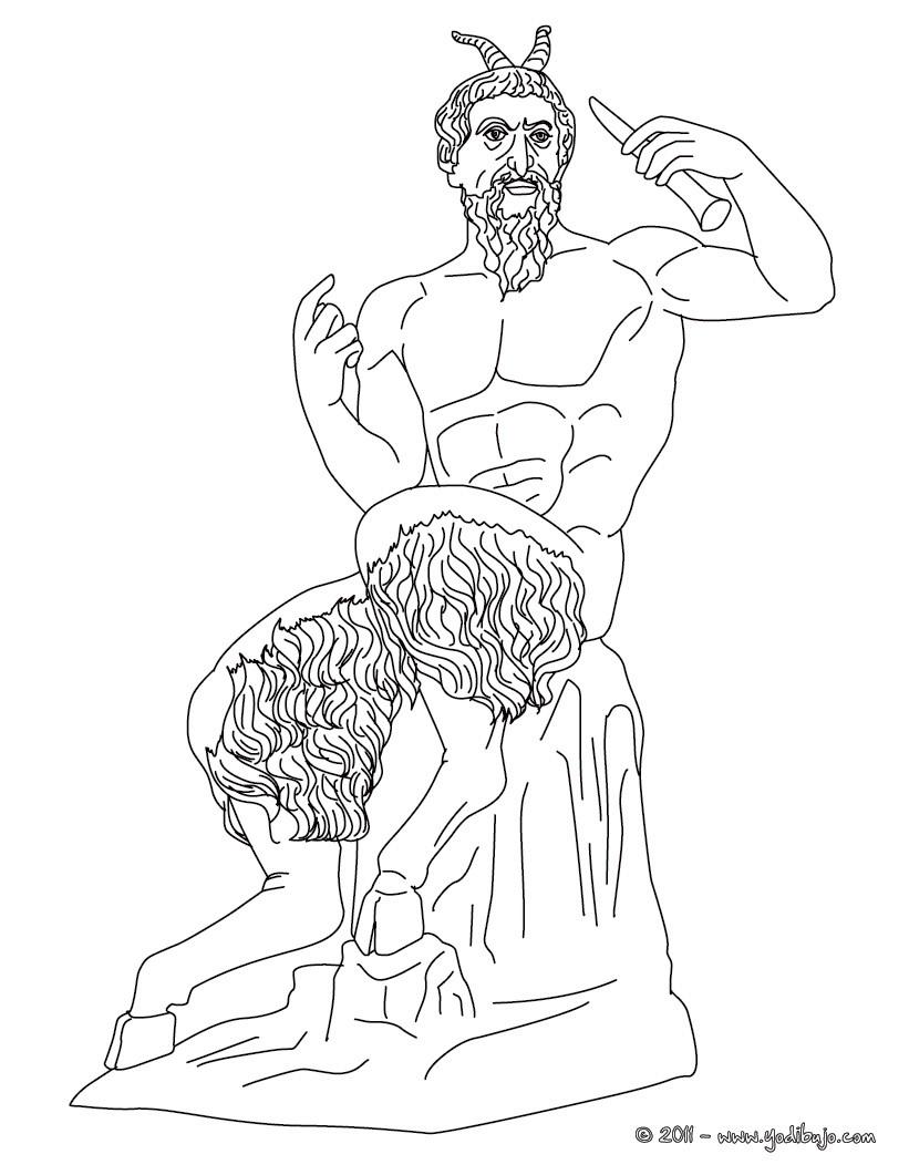 Dibujos para colorear dios pan , dios griego de la naturaleza ...