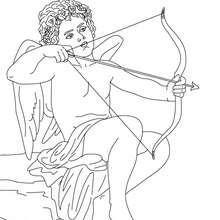 DIOS EROS para pintar, dios griego del amor - Dibujos para Colorear y Pintar - Dibujos para colorear PERSONAJES - PERSONAJES HISTORICOS para colorear - PERSONAJES DE LA MITOLOGIA GRIEGA para colorear - Dibujos de los DIOSES GRIEGOS par colorear