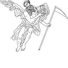 DIOS CRONOS para colorear, dios griego del zodiaco, las edades y el tiempo - Dibujos para Colorear y Pintar - Dibujos para colorear PERSONAJES - PERSONAJES HISTORICOS para colorear - PERSONAJES DE LA MITOLOGIA GRIEGA para colorear - Dibujos de los DIOSES