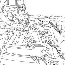 MITO DE ULISES Y LA SIRENAS para colorear - Dibujos para Colorear y Pintar - Dibujos para colorear PERSONAJES - PERSONAJES HISTORICOS para colorear - PERSONAJES DE LA MITOLOGIA GRIEGA para colorear - HEROES DE LA MITOLOGIA GRIEGA para colorear