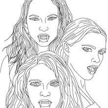 Dibujo de LAS EMPUSAS para colorear, hermosas mujeres con dientes de vámpiros que tienen el don de cambiar de aparencia - Dibujos para Colorear y Pintar - Dibujos para colorear PERSONAJES - PERSONAJES HISTORICOS para colorear - PERSONAJES DE LA MITOLOGIA