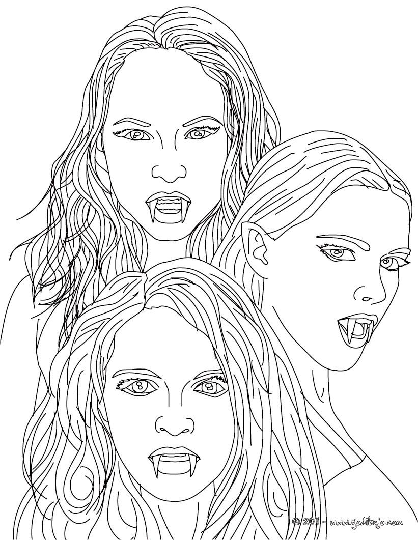 Dibujos para colorear las empusas , hermosas mujeres con dientes de ...