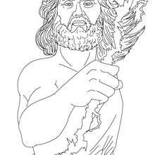 DIOS ZEUS para colorear, rey de los dioses olimpicos - Dibujos para Colorear y Pintar - Dibujos para colorear PERSONAJES - PERSONAJES HISTORICOS para colorear - PERSONAJES DE LA MITOLOGIA GRIEGA para colorear - Dibujos de los DIOSES GRIEGOS par colorear
