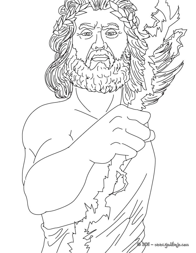 Dibujos para colorear dios zeus rey de los dioses for Zeus coloring page