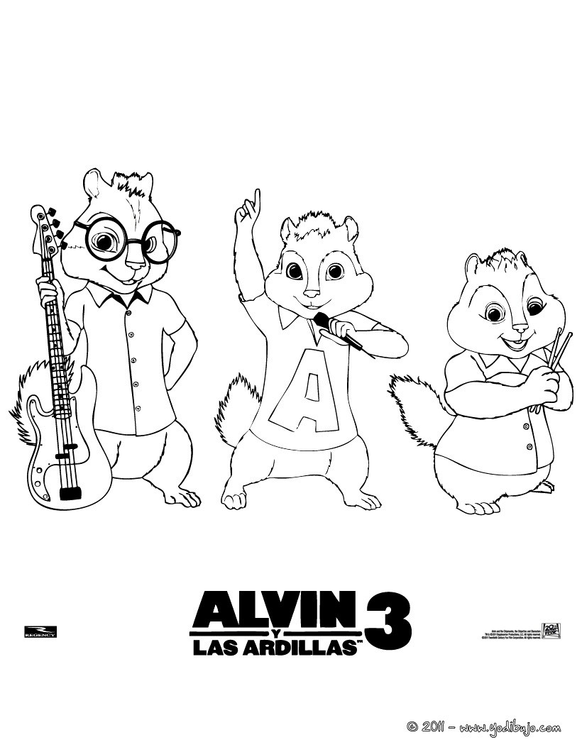 Dibujos para colorear alvin, simon y theodore - es ...