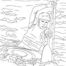 Dibujo de PIRAGUISMO para colorear - Dibujos para Colorear y Pintar - Dibujos para colorear DEPORTES - Dibujo para colorear los DEPORTES ACUATICOS