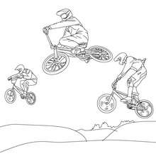 Dibujo para colorear : CICLISMO BMX