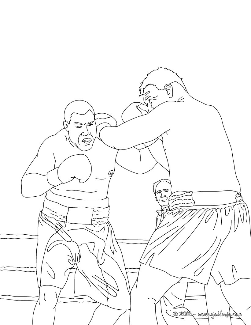 Dibujos para colorear boxeo - Coloriage boxer ...