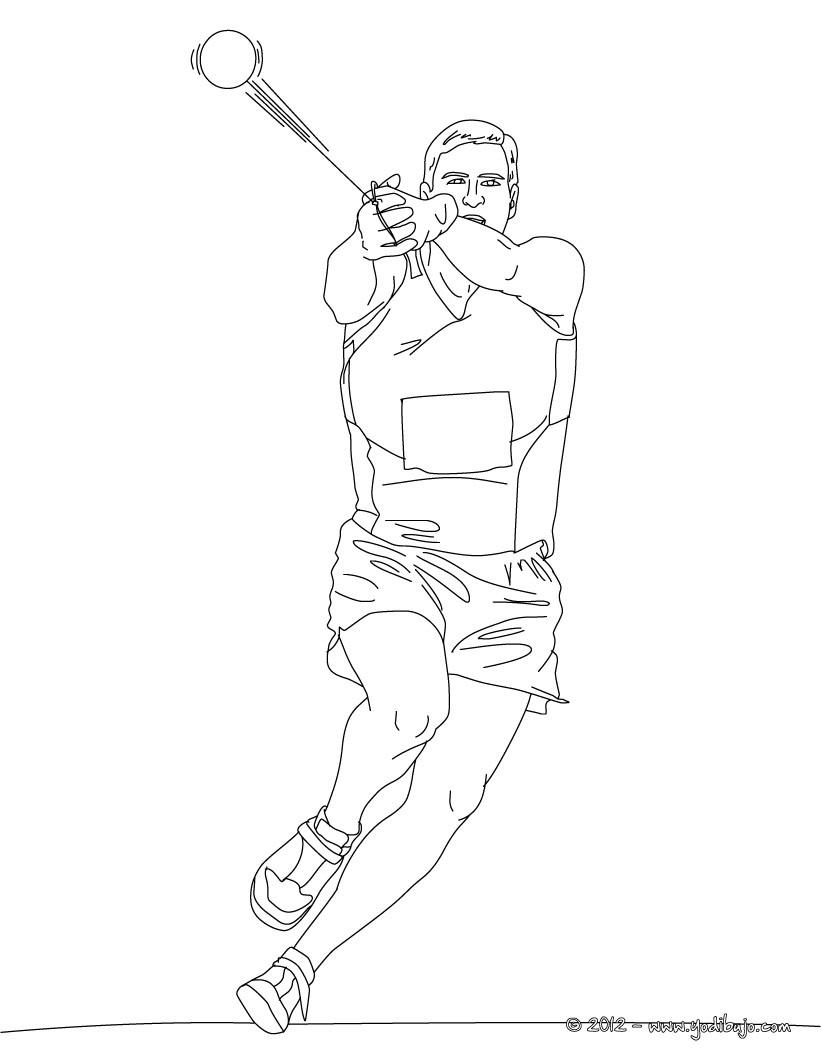 Dibujos para colorear lanzamiento de martillo  eshellokidscom
