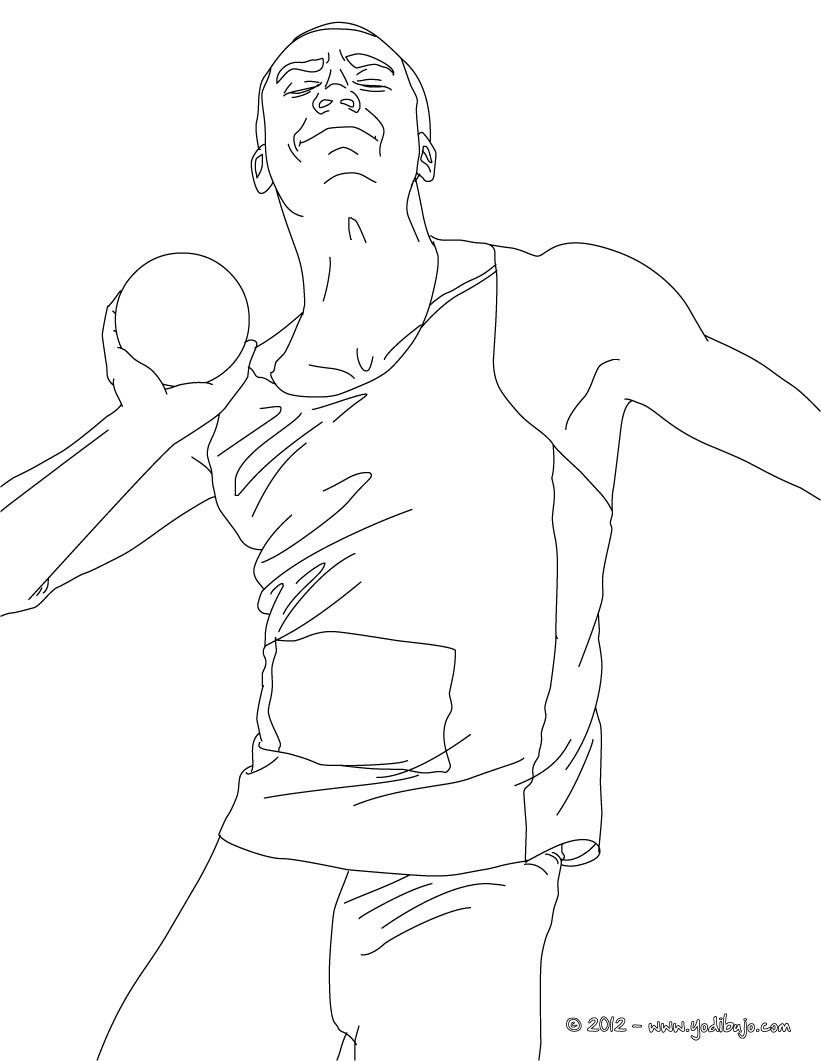 Dibujos para colorear lanzamiento de peso  eshellokidscom
