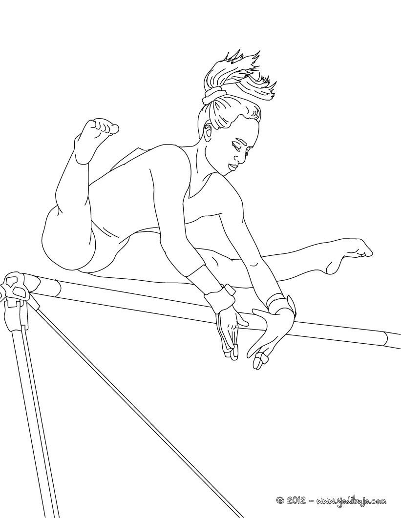 Dibujos para colorear gimnasta con la cinta gimnasia ritmica   es