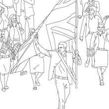 Dibujo para colorear : DESFILE DE LOS ATLETAS OLIMPICOS