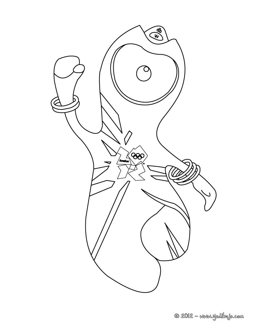Dibujo para colorear : WENLOCK la mascota de las Juegos Olimpicos
