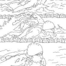 Dibujo para colorear : CARRERA DE ESTILO MARIPOSA