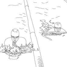 Dibujo para colorear CARRERA DE ESTILO BRAZA DE PECHO - Dibujos para Colorear y Pintar - Dibujos para colorear DEPORTES - Dibujos de NATACION para colorear
