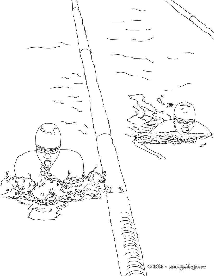 Dibujos de NATACION para colorear - 6 Dibujos para COLOREAR los ...