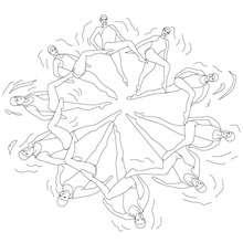 Dibujo para colorear : NATACION SINCRONIZADA en equipo