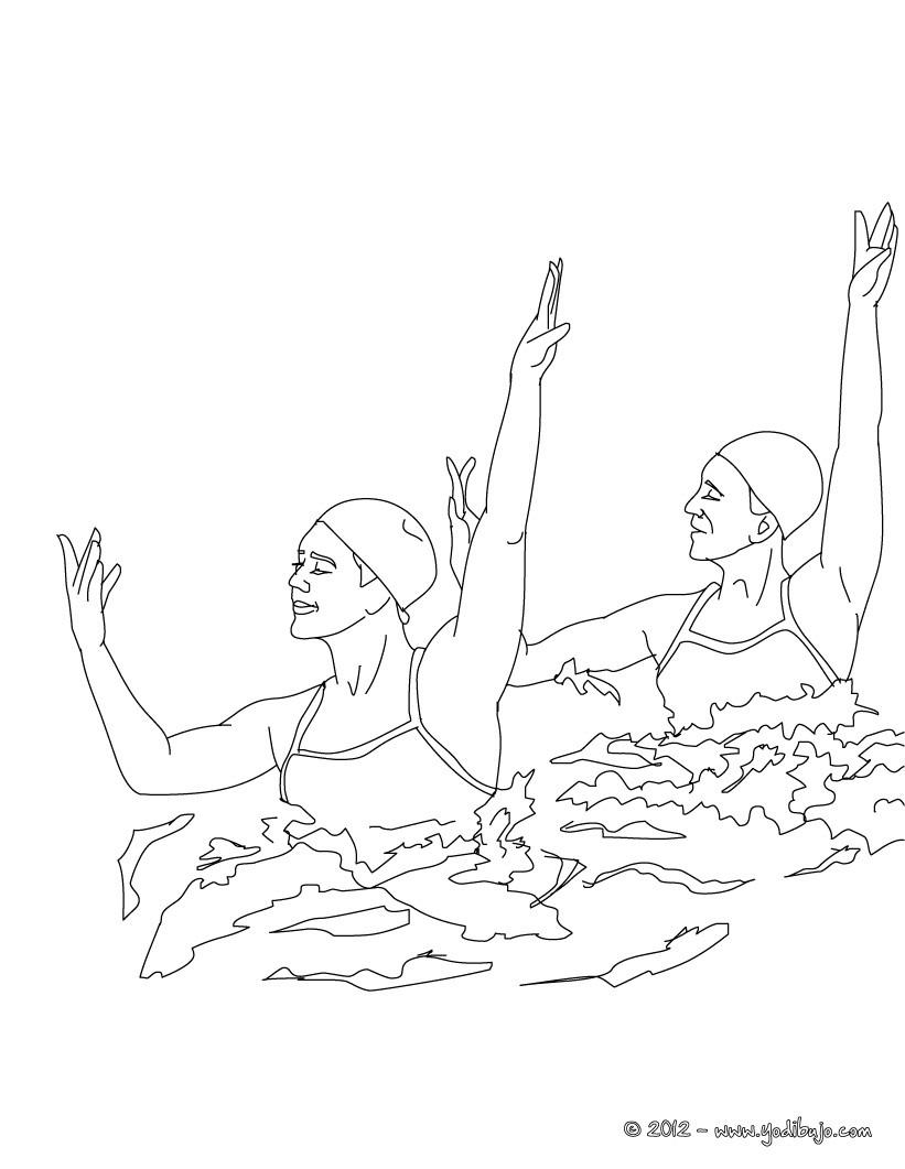 Dibujos para colorear duo de natacion sincronizada - es.hellokids.com