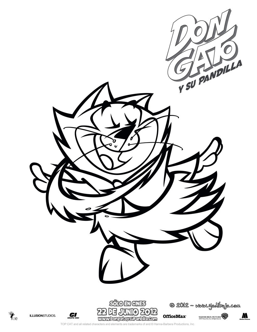 Dibujos para colorear don gato y su pandilla - es.hellokids.com