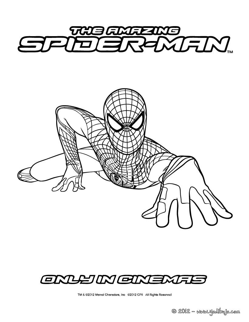 Dibujos para colorear the amazing spiderman reptando - es.hellokids.com
