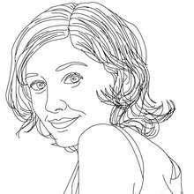 Dibujo de ALEXANDRA MARIA LARA para colorear - Dibujos para Colorear y Pintar - Dibujos para colorear PERSONAJES - PERSONAJES HISTORICOS para colorear - ALEMANES para colorear