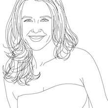 Retrato de ALEXANDRA NELDER KEU para colorear - Dibujos para Colorear y Pintar - Dibujos para colorear PERSONAJES - PERSONAJES HISTORICOS para colorear - ALEMANES para colorear