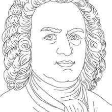 Dibujo de JOHANN SEBASTIAN BACH, compositor aleman para colorear - Dibujos para Colorear y Pintar - Dibujos para colorear PERSONAJES - PERSONAJES HISTORICOS para colorear - ALEMANES para colorear