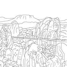 PUENTE DE BASTEI para colorear - Dibujos para Colorear y Pintar - Dibujos para colorear los PAISES - ALEMANIA para colorear - MONUMENTOS DE ALEMANIA para colorear