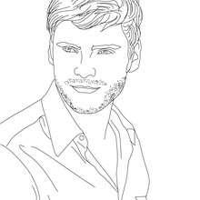 Dibujo del actor aleman DANIEL BRUHL para colorear - Dibujos para Colorear y Pintar - Dibujos para colorear PERSONAJES - PERSONAJES HISTORICOS para colorear - ALEMANES para colorear