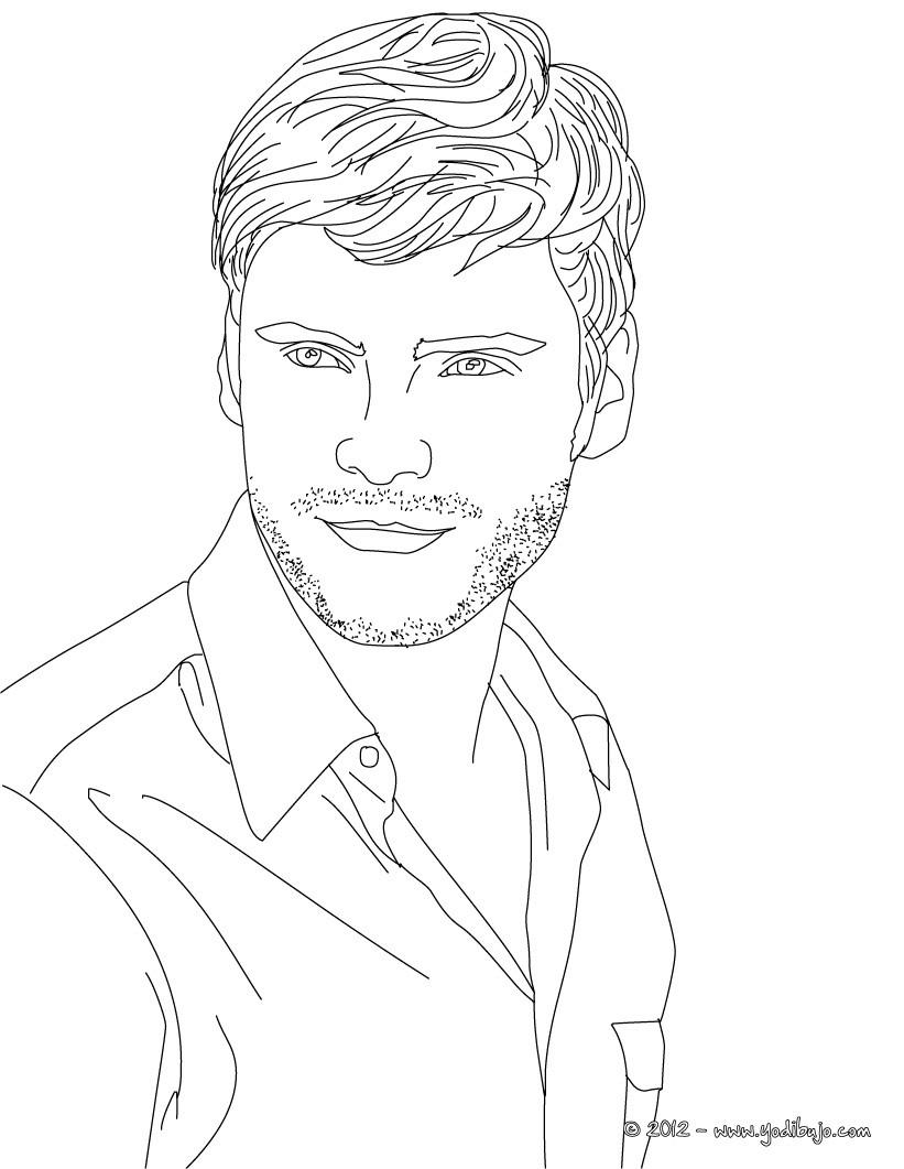 ALEMANES para colorear, actor aleman DANIEL BRUHL para imprimir