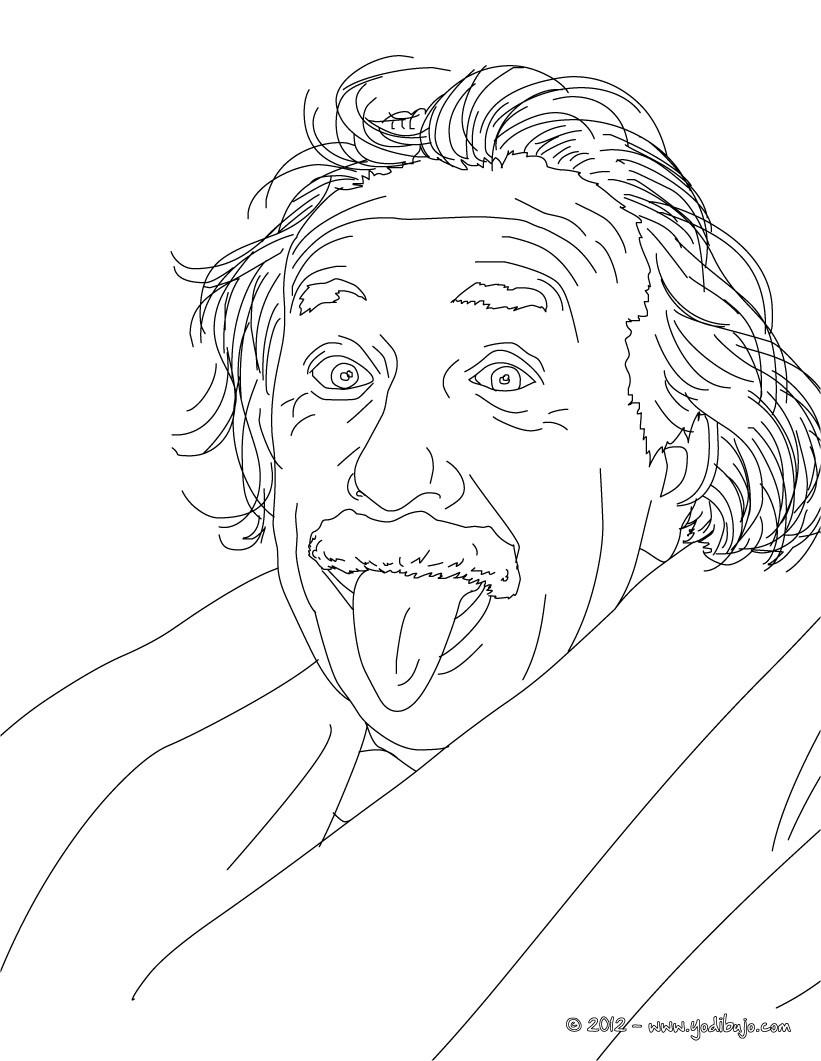 albert einstein coloring pages - imagen albert einstein para colorear imagui
