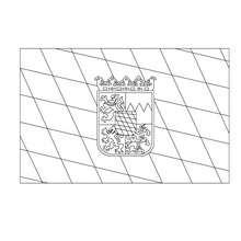 Dibujo para colorear : Bandera de BAVIERA