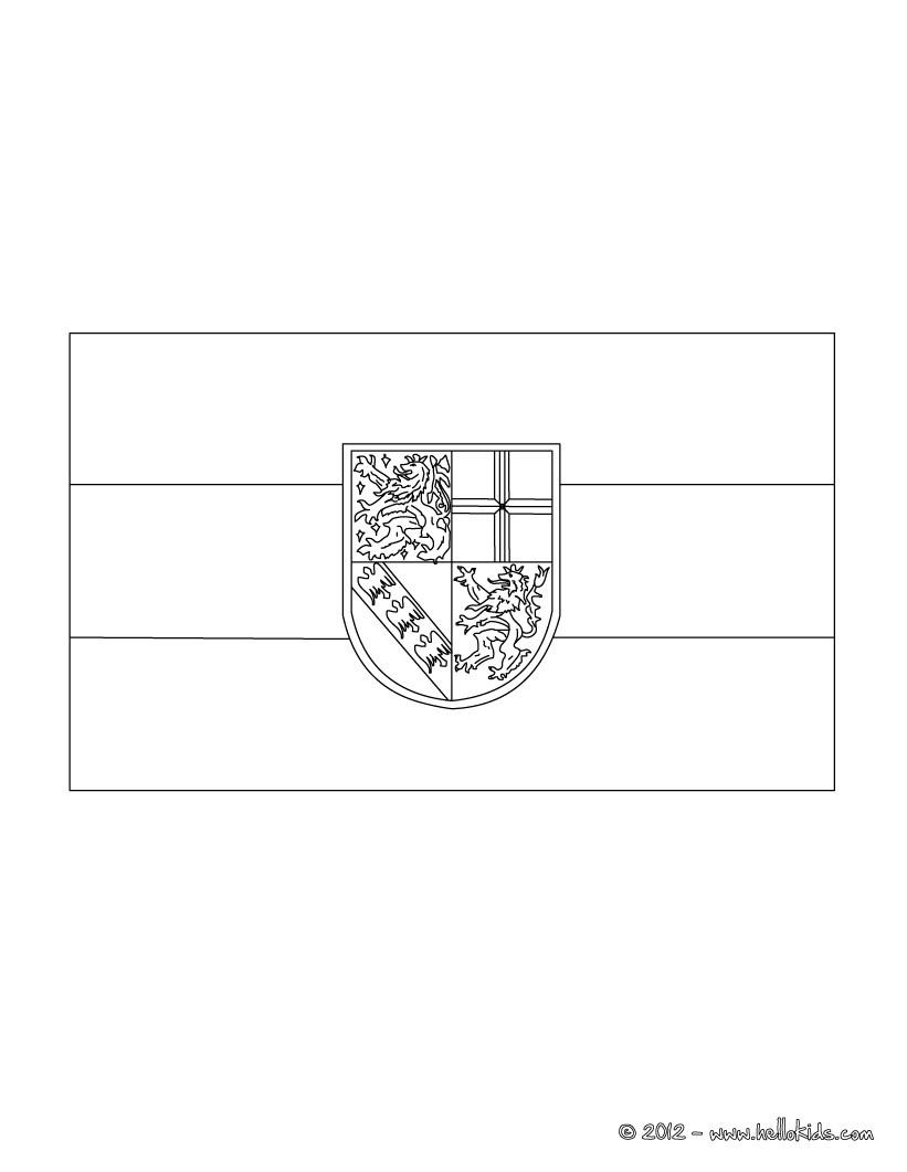 Dibujos para colorear bandera de baviera - es.hellokids.com