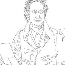 Dibujo del escritor aleman JOHANN WOLFGANG VON GOETHE para colorear - Dibujos para Colorear y Pintar - Dibujos para colorear PERSONAJES - PERSONAJES HISTORICOS para colorear - ALEMANES para colorear