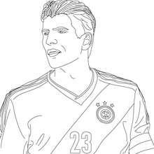 Retrato de MARIO GOMEZ, jugador de futbol aleman para colorear - Dibujos para Colorear y Pintar - Dibujos para colorear DEPORTES - Dibujos de FÚTBOL para colorear - FUTBOLISTAS para colorear