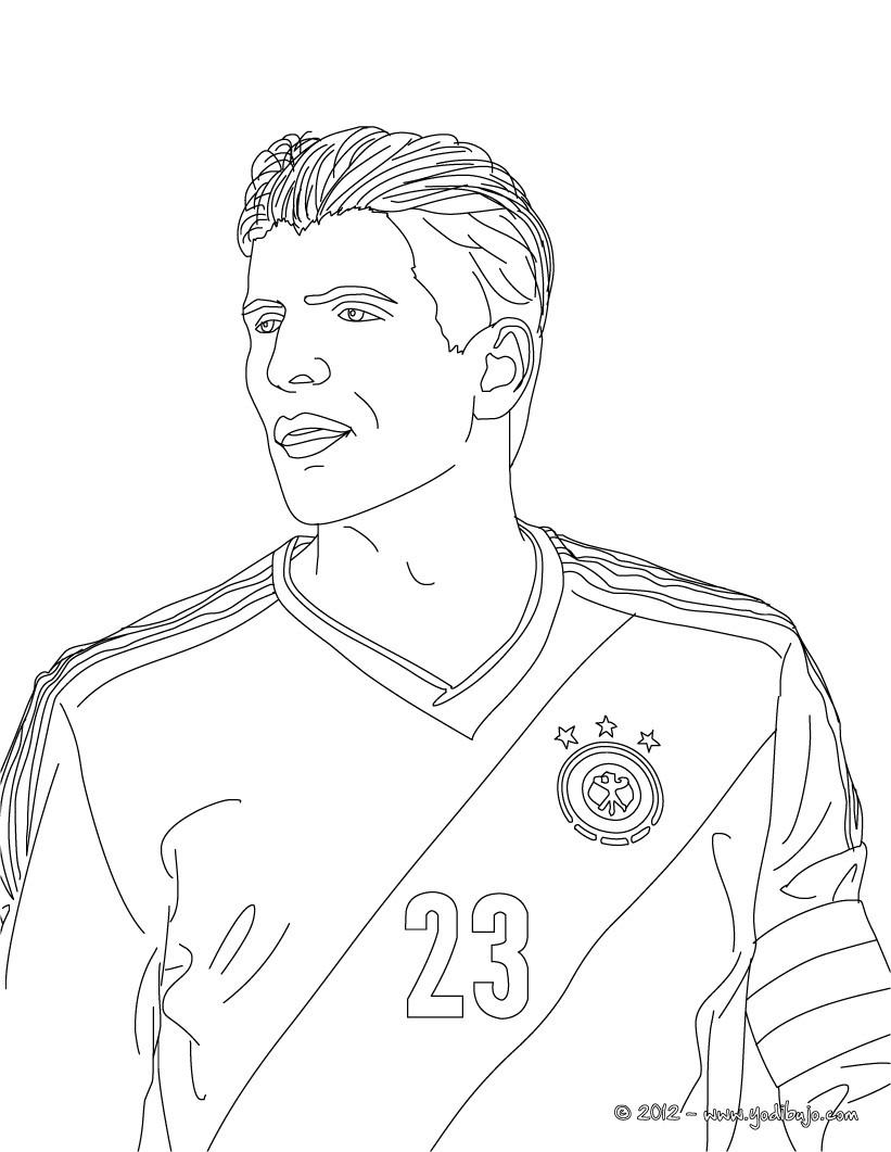 Dibujo para colorear : Mario Gomez