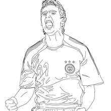 MIROSLAV KLOSE, jugador de futbol aleman para colorear - Dibujos para Colorear y Pintar - Dibujos para colorear DEPORTES - Dibujos de FÚTBOL para colorear - FUTBOLISTAS para colorear