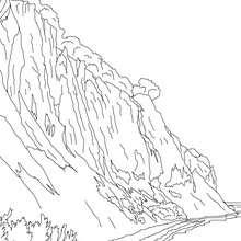 ACANTILADOS BLANCOS en la isla de Rugen para colorear - Dibujos para Colorear y Pintar - Dibujos para colorear los PAISES - ALEMANIA para colorear - MONUMENTOS DE ALEMANIA para colorear